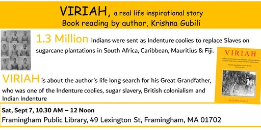 VIRIAH book reading in Boston