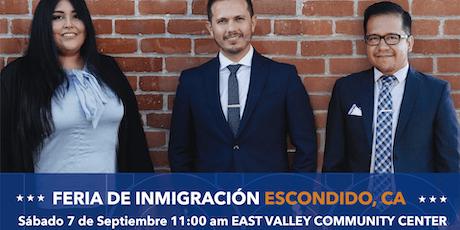 FERIA DE INMIGRACION EN ESCONDIDO, CA tickets