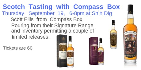 Compass Box Scotch Tasting tickets