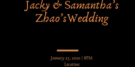 Jacky & Samantha's Wedding 2020! tickets
