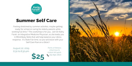 Wiser Medicine Workshops: Summer Self-Care