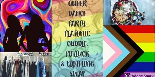 Queer platonic cuddle, dance party, potluck & clothing swap