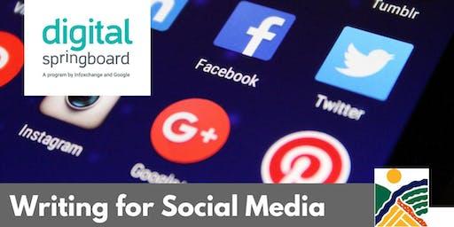 Writing for Social Media @ Kapunda Library (Sept 2019)