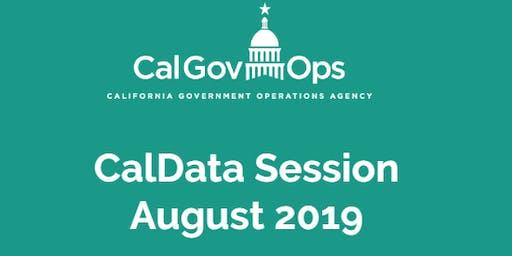 CalData August 2019 Session