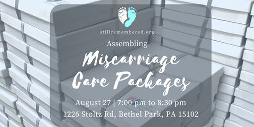 Miscarriage Care Package Craft & Assembly Event: August
