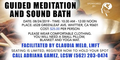 Guided Meditation and Sound Bath tickets