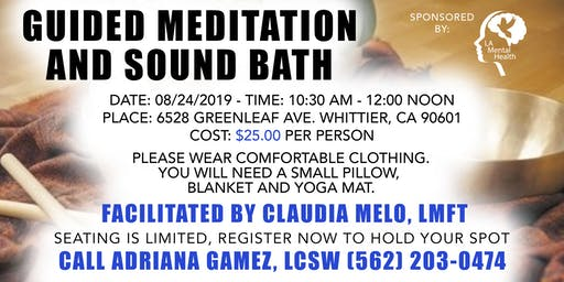 Guided Meditation and Sound Bath