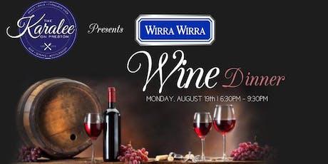 Wirra Wirra Wine Dinner tickets
