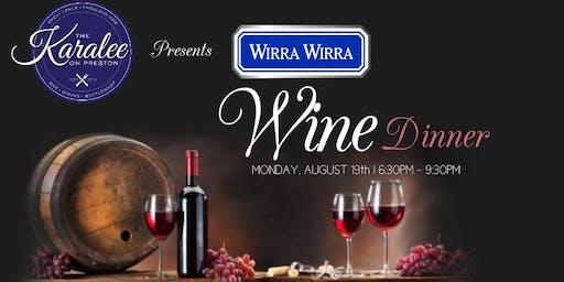 Wirra Wirra Wine Dinner