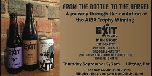 From the Bottle to the Barrel - the Evolution of Exit's Milk Stout