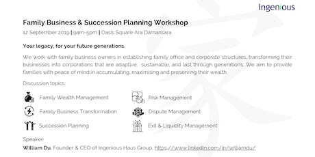 Family Business & Succession Planning Workshop tickets