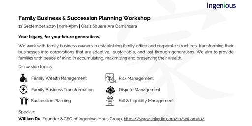 Family Business & Succession Planning Workshop