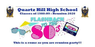QHHS Classes of 1980-89 Reunion 2020