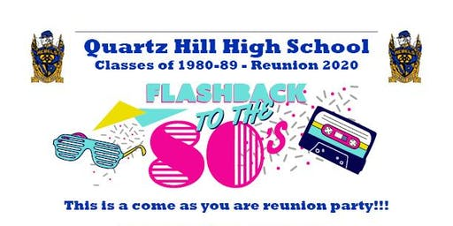 QHHS Classes of 1980-89 Reunion 2020
