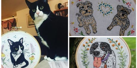 Pet Portrait Embroidery Workshop tickets