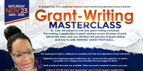 Grant-Writing Masterclass tickets