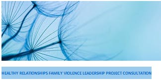 Healthy Relationship Family Violence Leadership Project Consultation