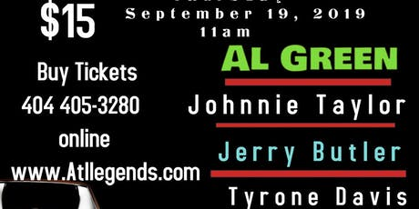 Hey Day Music from Al Green,Johnnie Taylor,Tyrone Davis & Jerry Butler tickets