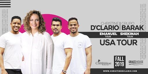 SanDiegoCA -Christine D'Clario / Barak - Emanuel / Shekinah USA Tour 2019
