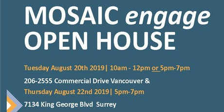 Open House- MOSAIC engage English Classes tickets