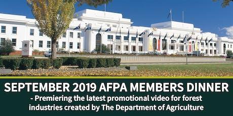 SEPTEMBER 2019 AFPA MEMBERS DINNER  tickets