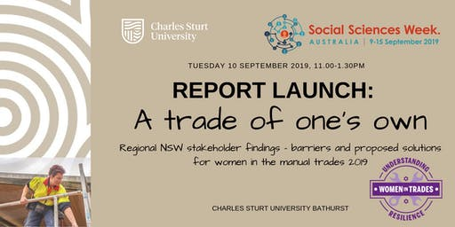 'A trade of one's own'  Report launch: Women in manual trades