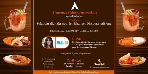 L'Apéraf networking du 05/09 • Solutions pour échanges Diaspora - Afrique