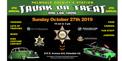 Palmdale Sheriff's Station 4th annual Trunk or Treat and Car Show
