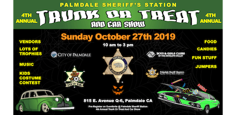 Palmdale Sheriff's Station 4th annual Trunk or Treat and Car Show  tickets