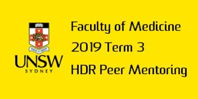 2019 T3 UNSW Medicine HDR Peer Mentor Training - Workshop 1