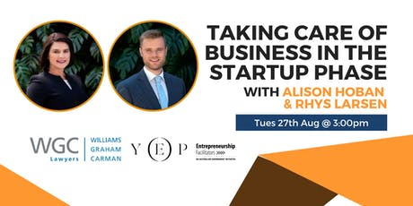 Taking Care of Business in the Startup Phase tickets