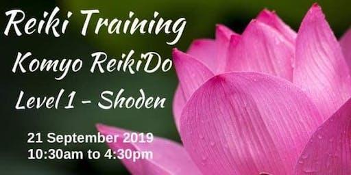 Reiki Training - KOMYO REIKIDO Method, Level 1 - SHODEN
