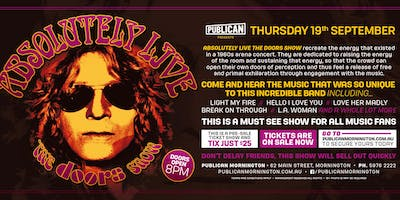 Absolutely LIVE - The Doors Show LIVE at Publican, Mornington!