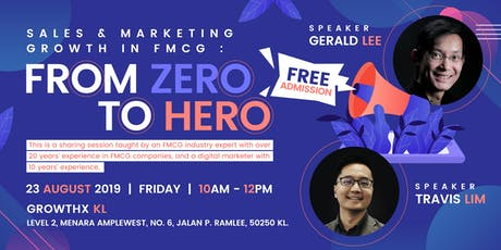 Sales & Marketing Growth in FMCG : From Zero to Hero tickets