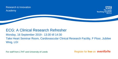 ECG: A Clinical Research Refresher tickets