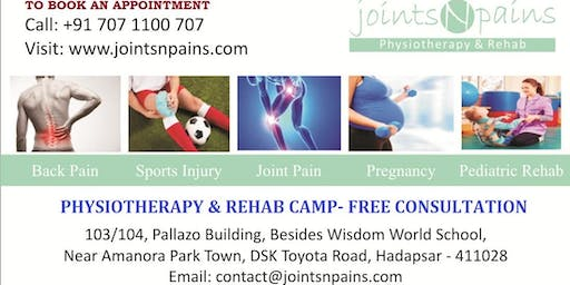 Physiotherapy & Rehab Free Camp in Hadapsar