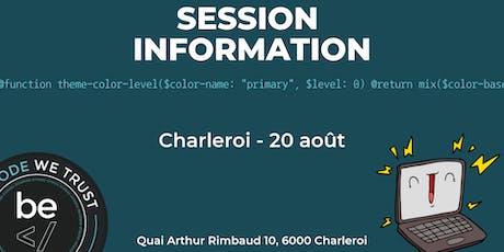 BeCode - Séance Information @Charleroi 20/08 billets