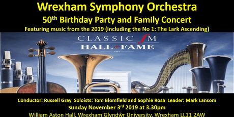 Wrexham Symphony Orchestra 50th Birthday Party and Family Concert tickets