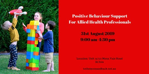 Positive Behaviour Support Workshop for Allied Health Professionals