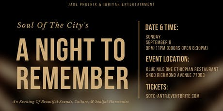 Soul Of The City's: A Night To Remember tickets