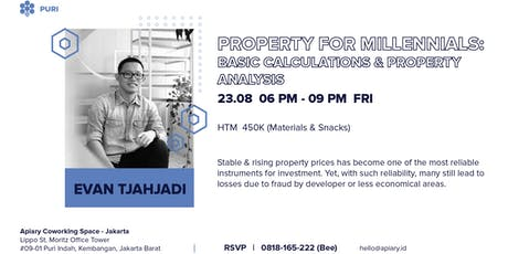 Property For Millennials: Basic Calculations & Property Analysis tickets