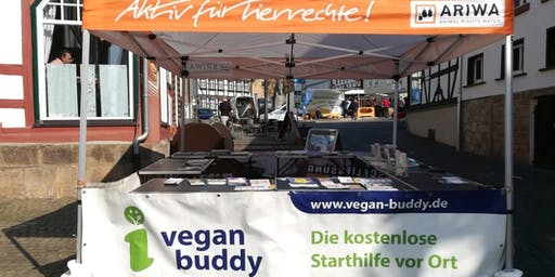 Vegan-Buddy Infostand beim Mind on Fire-Festival - ARIWA Vogelsberg
