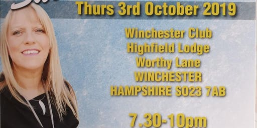 An Evening of Mediumship with the wonderful Sue Hind Thur 03/10/19 7pm-10pm