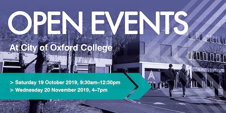 City of Oxford College Autumn Open Events tickets