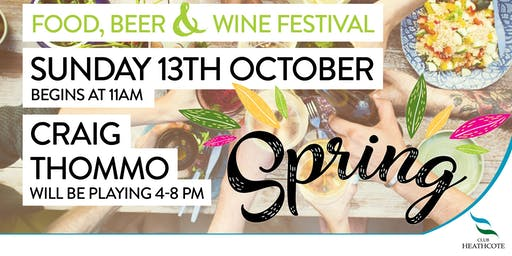Spring Food, Beer and Wine Festival