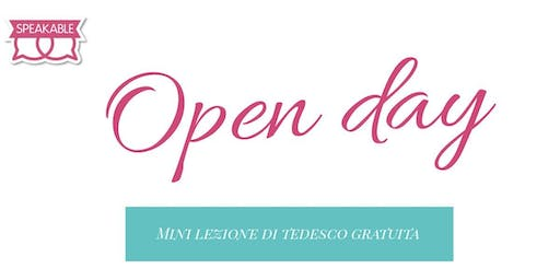 Open Day di Speakable con mini lezione di tedesco gratuita