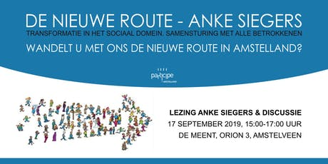 De Nieuwe Route (Anke Siegers) - lezing & discussie tickets