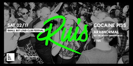 RUIS w/ Cocaine Piss & Arabnormal (ex-The Hickey Underworld) tickets