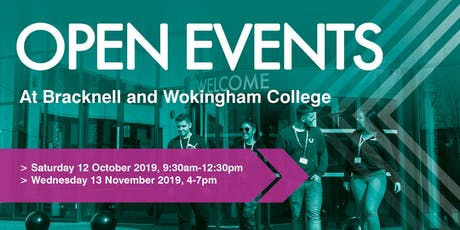 Bracknell and Wokingham College Autumn Open Events tickets