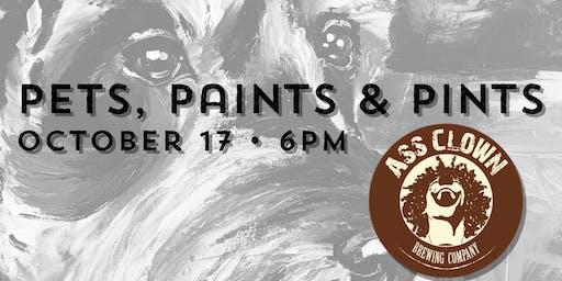 Pets, Paints & Pints at Ass Clown Brewery